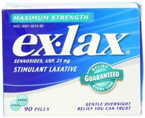 exlax stimulant laxative extra strength