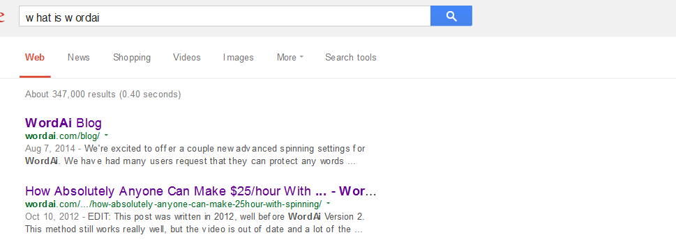 what is wordai - Google Search