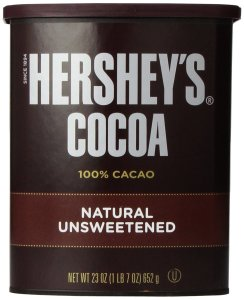hershey's cocoa powder unsweetened to darken blood