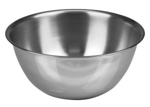 metal mixing bowl for prank