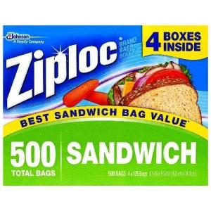 ziploc sandwhich bags
