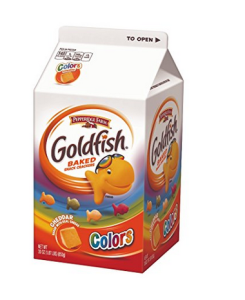 Colored Gold Fish for Puke Prank