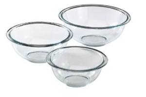 Glass prepware made by Pyrex