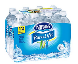 Pure life water made by nestle